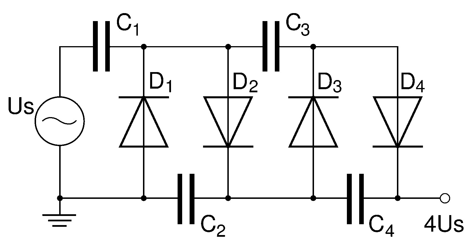Diode voltage multiplier diagram by larry e gugle k4rfeg pooptronica Images